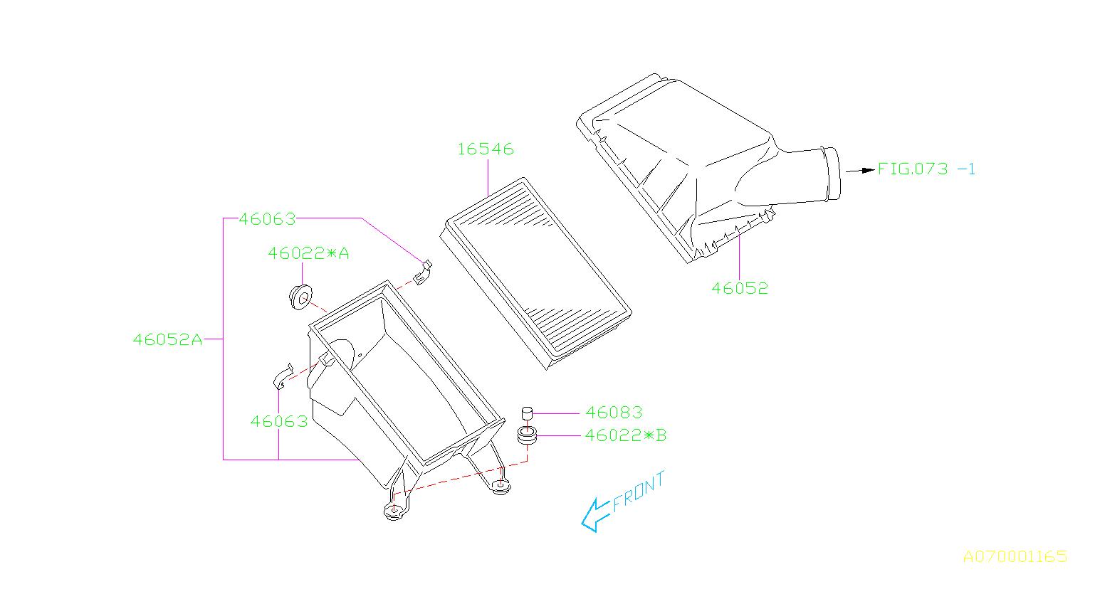 subaru legacy cushion-air cleaner  element  intake  duct