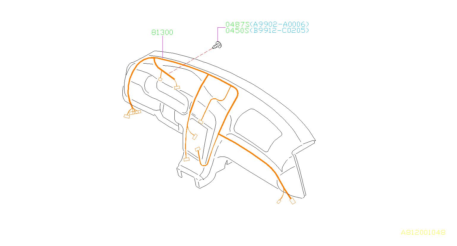 Subaru Baja Harness Instrument Panel  Instant Panel