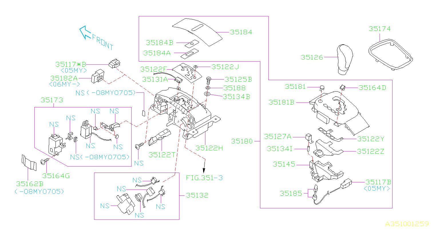Subaru       Legacy    Arm System  steering  selector  select