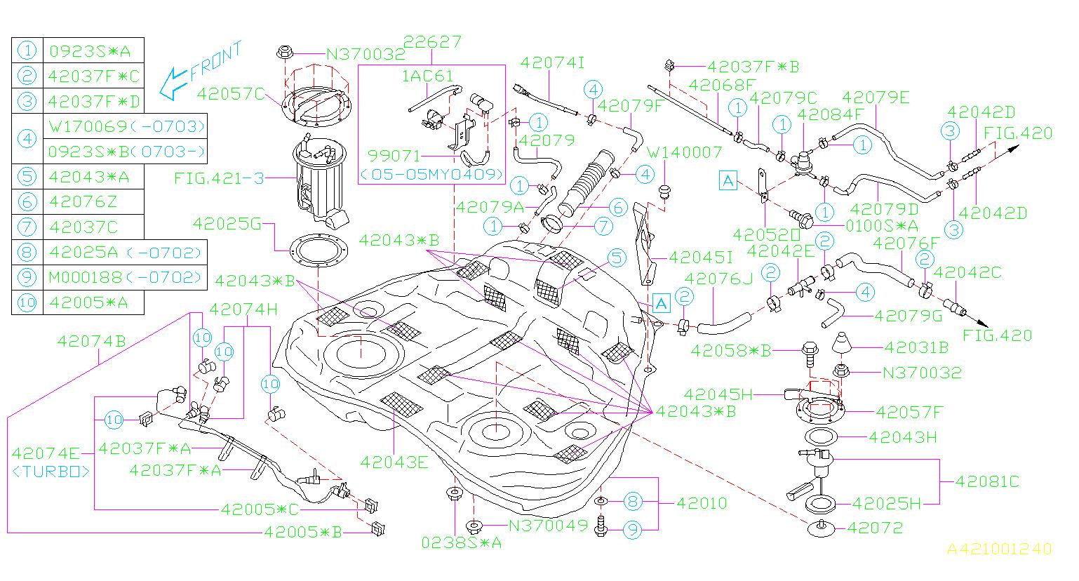 2009 Subaru Outback Valve Pressure Control. Valve P.C ...