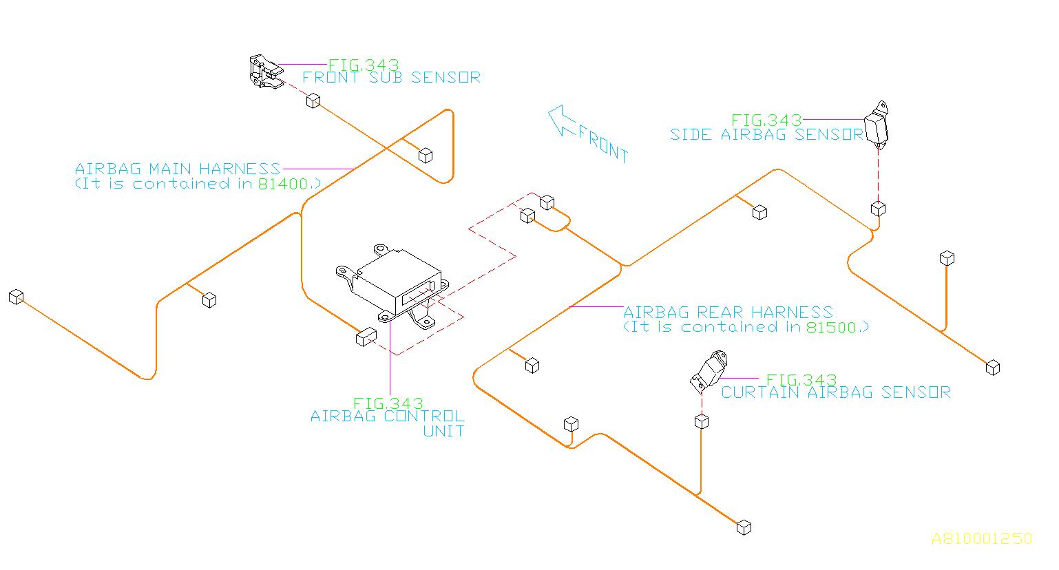 Subaru Legacy Wiring Harness Center Bulkhead  Main