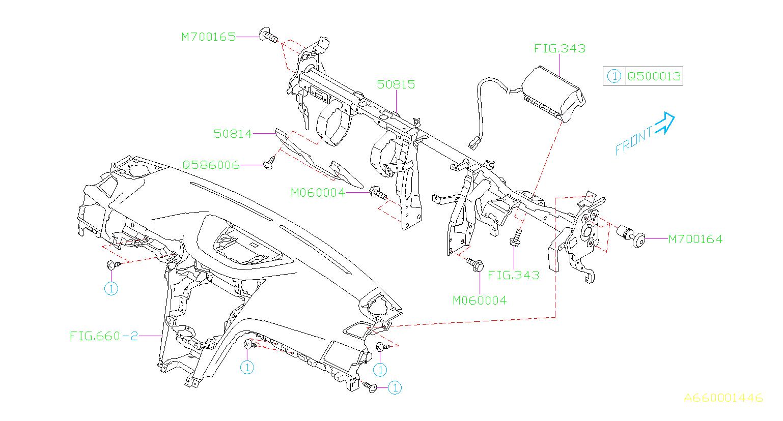 2011 Subaru Outback Adjust Bolt Steering Panel Interior Instrument Beam 901700164 Kirby