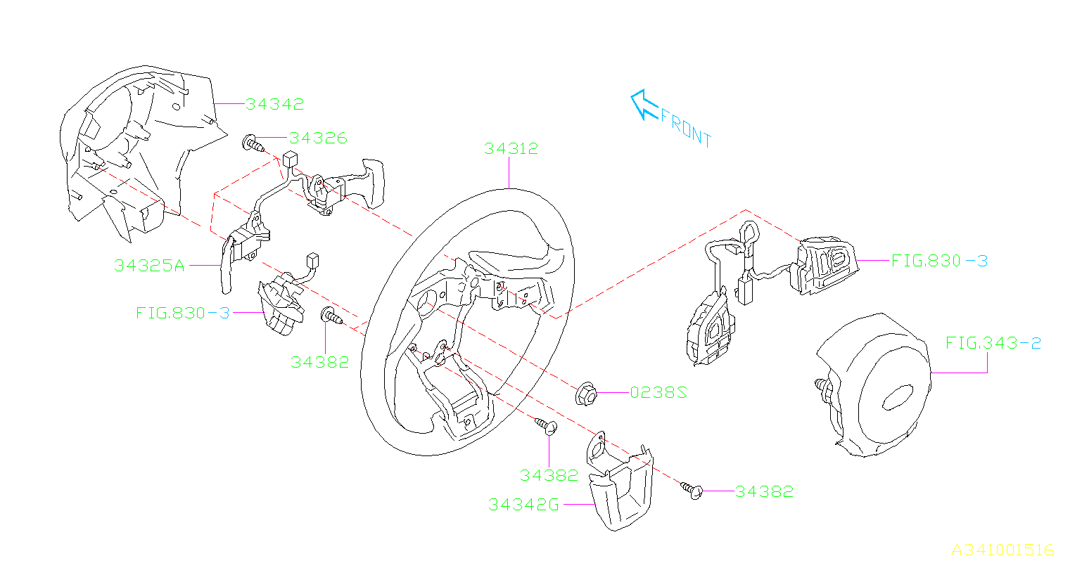 subaru outback switch assembly-transmission shift  steering  wheel  column
