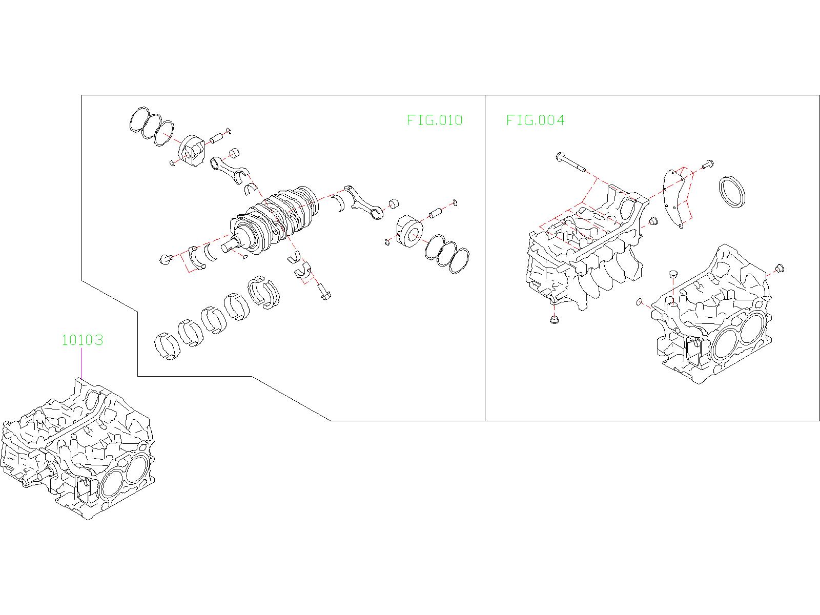 Subaru Outback Short Block Engine  Assembly