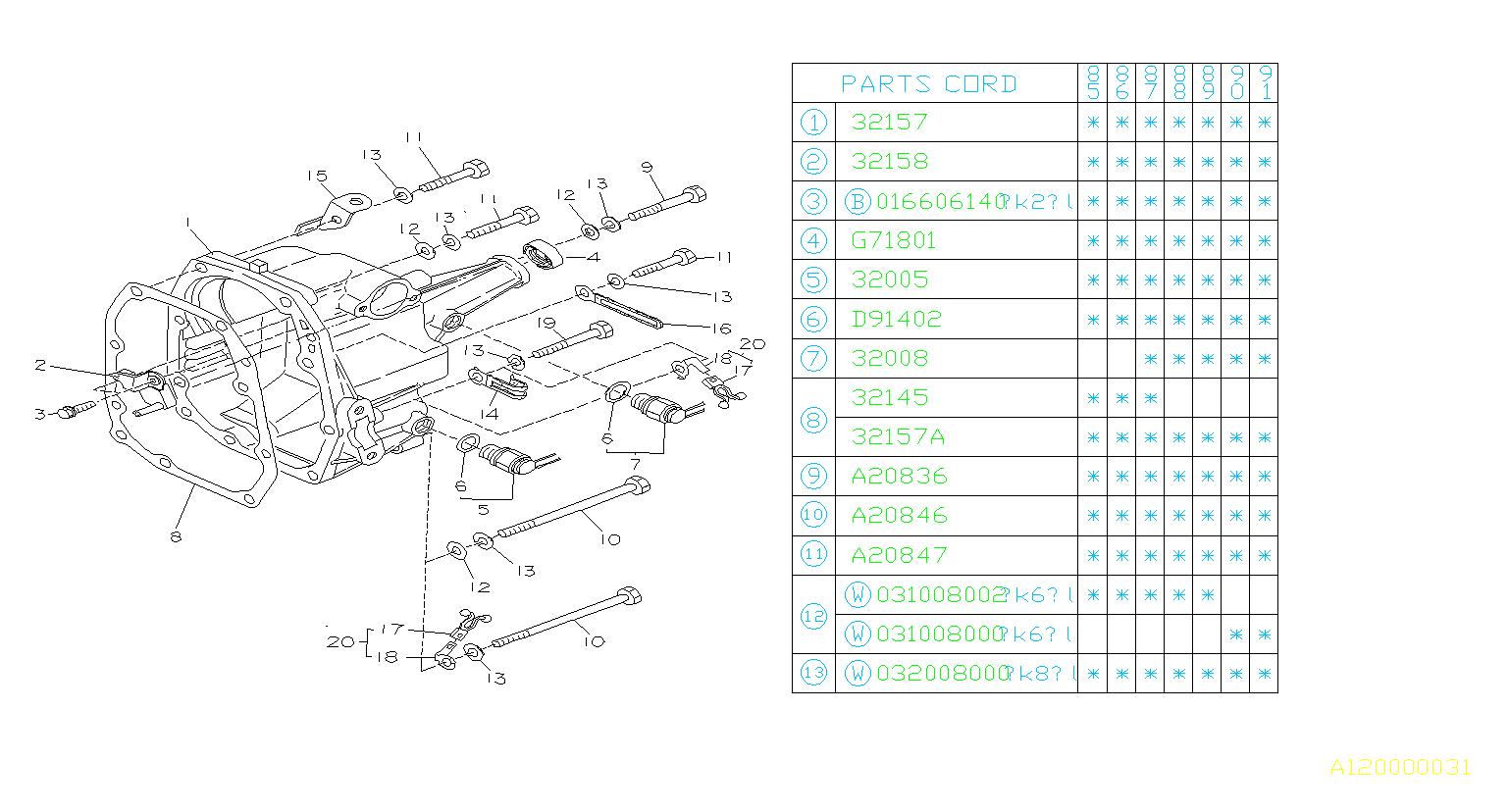 Subaru Xt Switch Assembly