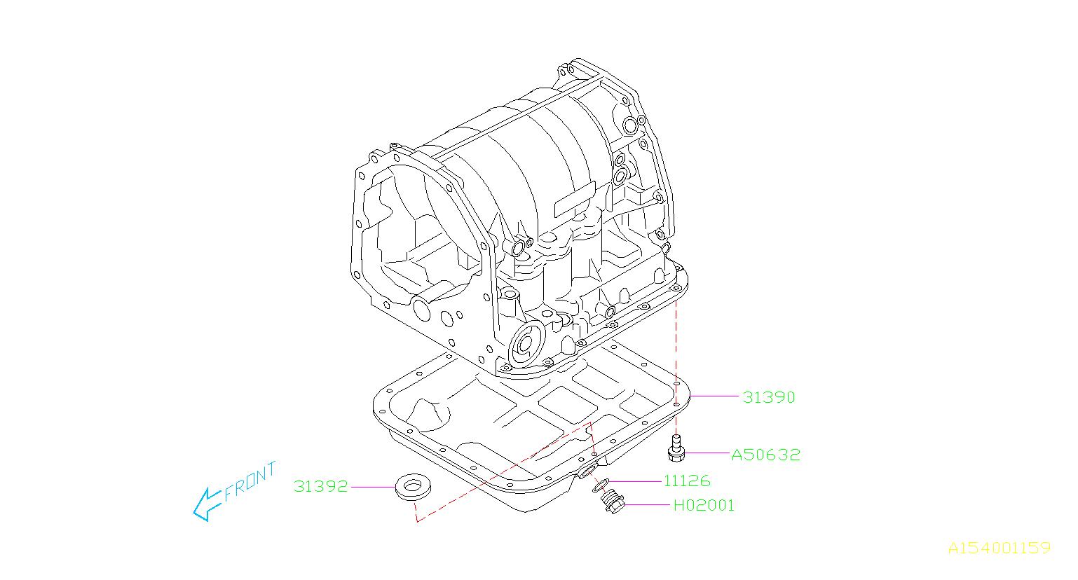 subaru impreza magnet oil pan case transmission. Black Bedroom Furniture Sets. Home Design Ideas