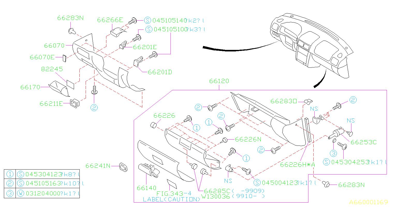 Subaru Impreza Engine Decal  Engine Sticker  Fuse Box