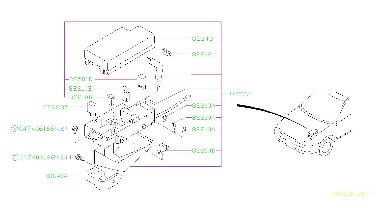 2000 subaru impreza cover fuse box main electrical. Black Bedroom Furniture Sets. Home Design Ideas