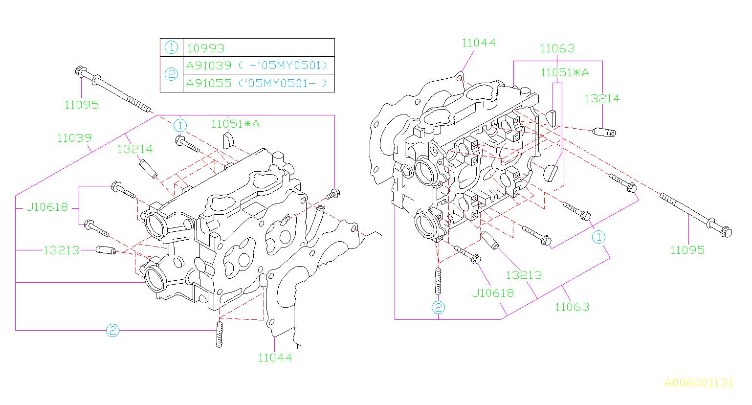 2002 Subaru Wrx Engine Cylinder Head Gasket  System