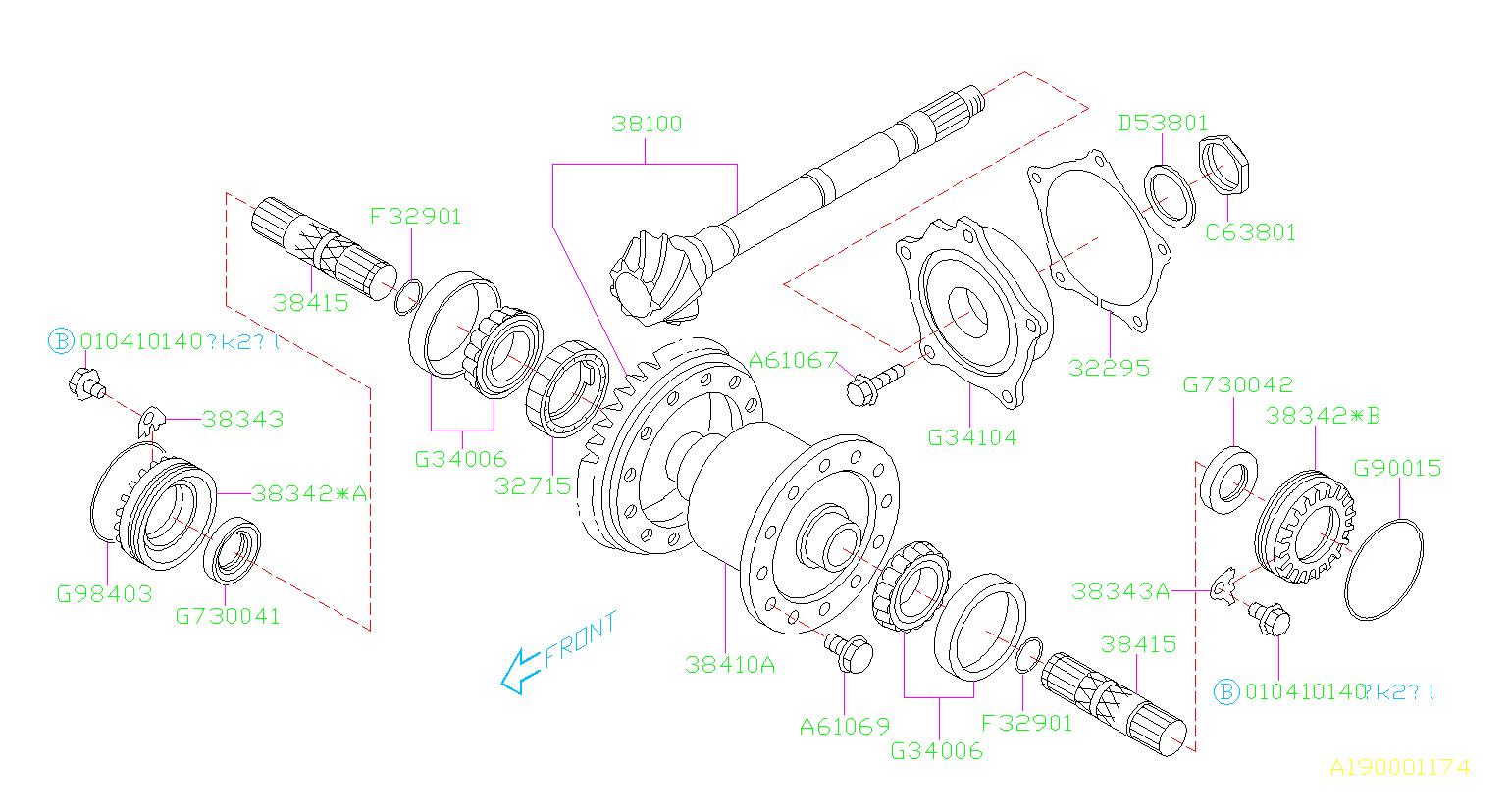 subaru impreza roller bearing differential transmission. Black Bedroom Furniture Sets. Home Design Ideas