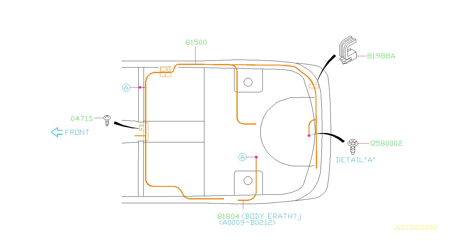 Subaru Sti Cruise Control Cable Clip  Harness  Wiring