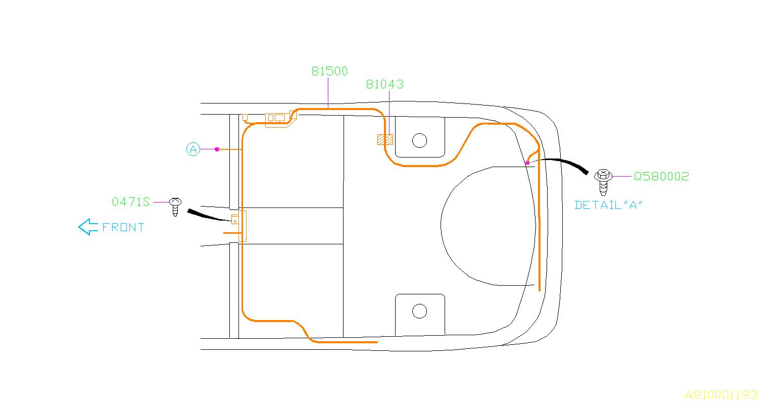 Subaru Impreza Harness-rear  Wiring  Main  Electrical  Airbag