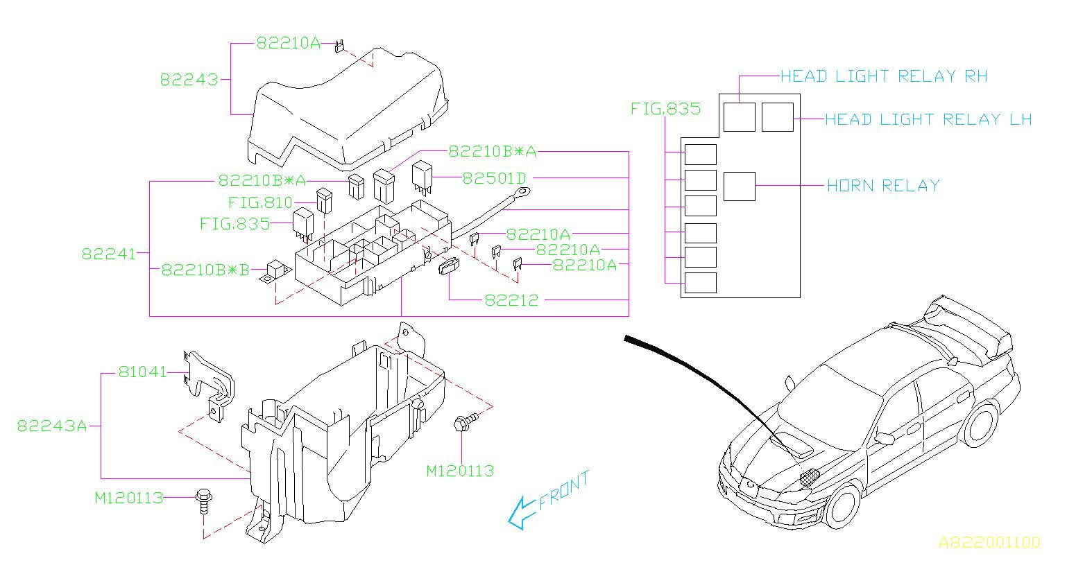 Subaru Impreza Fuse-main  Box