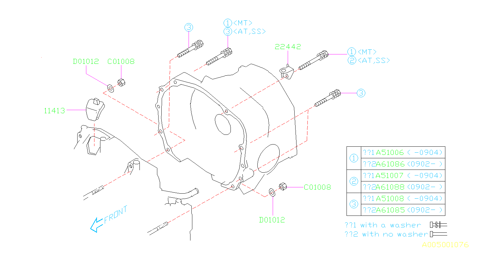 subaru impreza bolt with no washer transmission timing. Black Bedroom Furniture Sets. Home Design Ideas