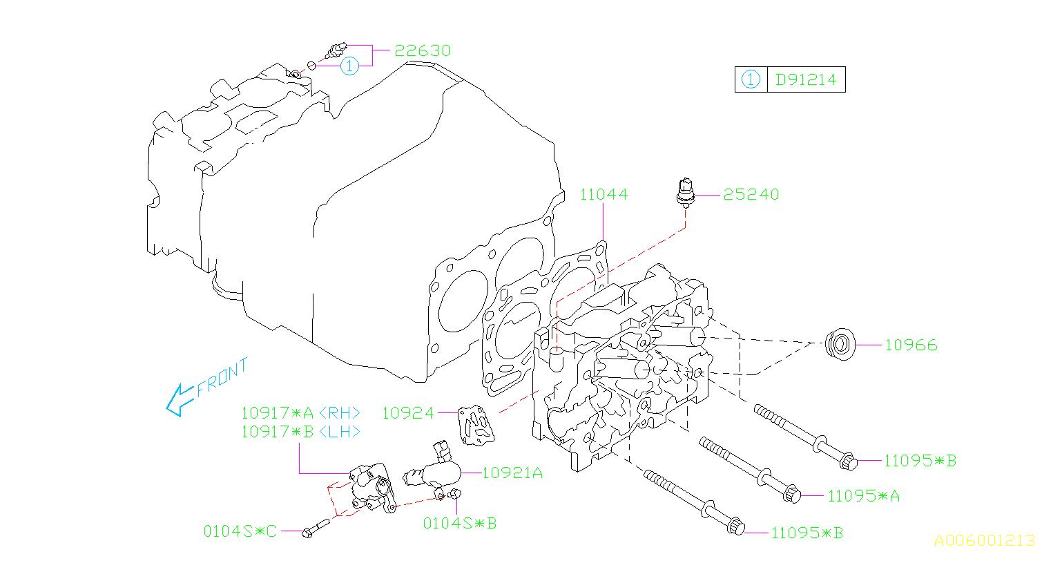 2008 Subaru Impreza Engine Cylinder Head Gasket  System