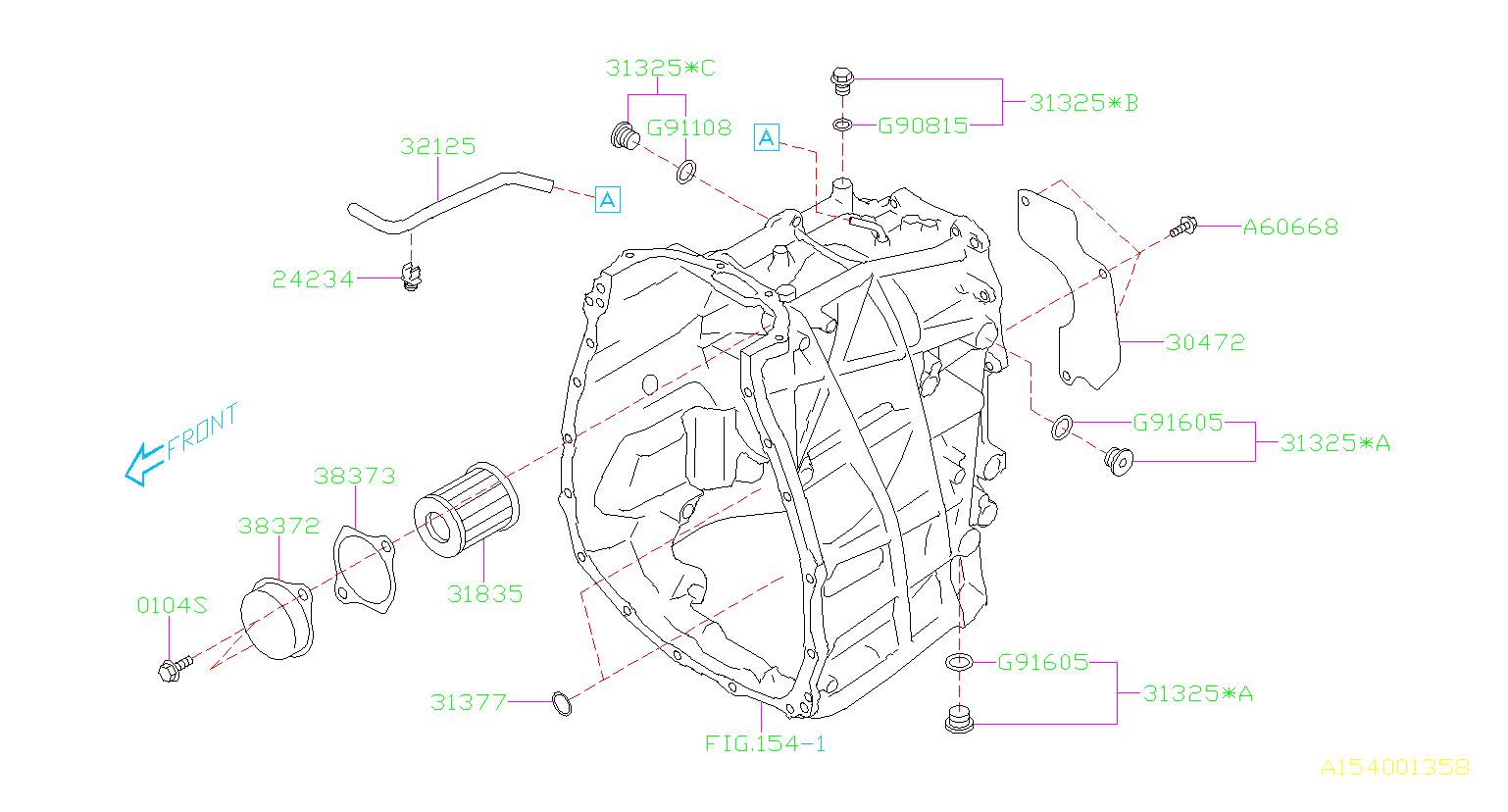 subaru impreza bolt assembly seal transmission case. Black Bedroom Furniture Sets. Home Design Ideas