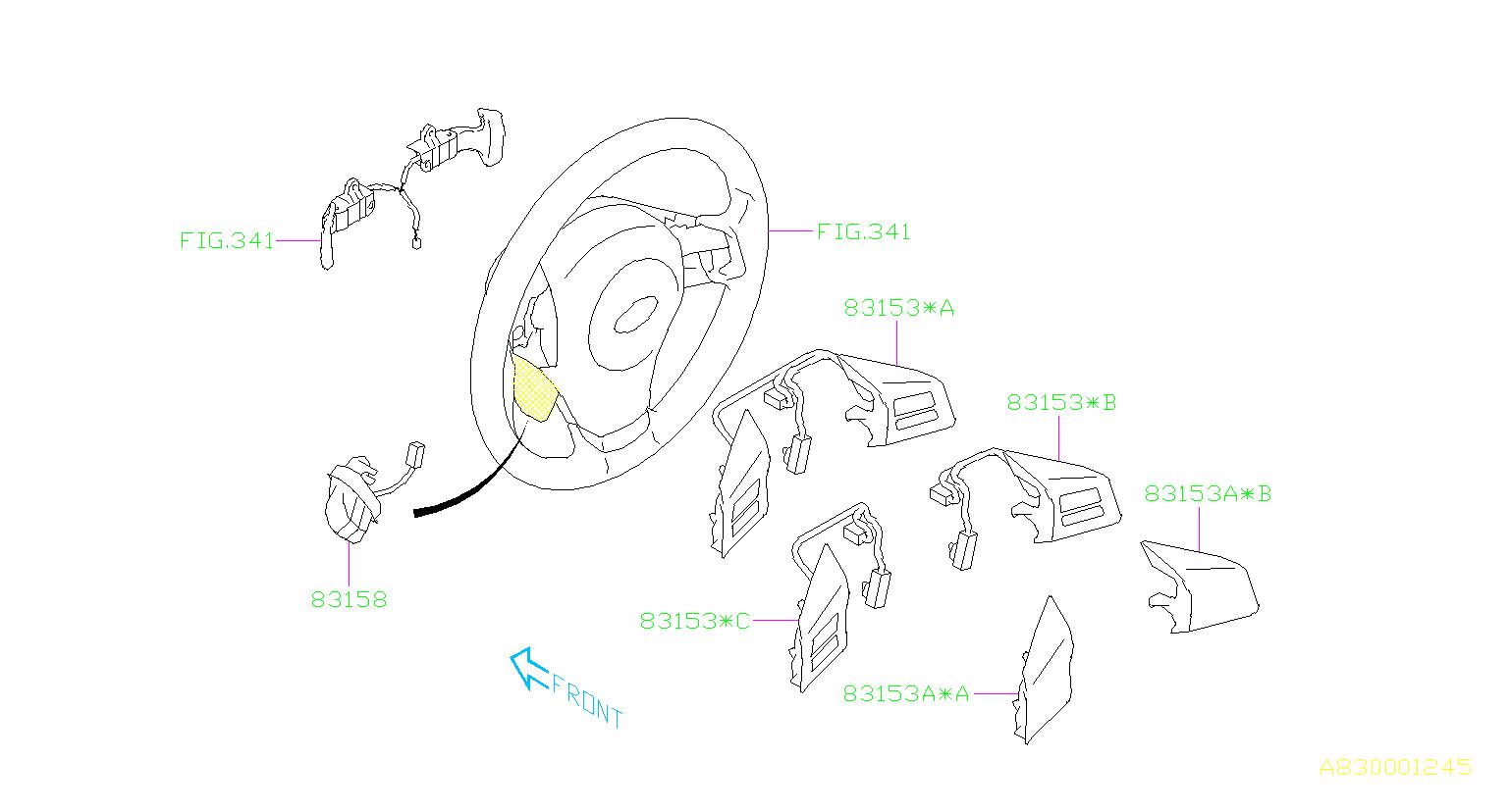 subaru impreza switch-satellite  steering  instrumentpanel  electrical