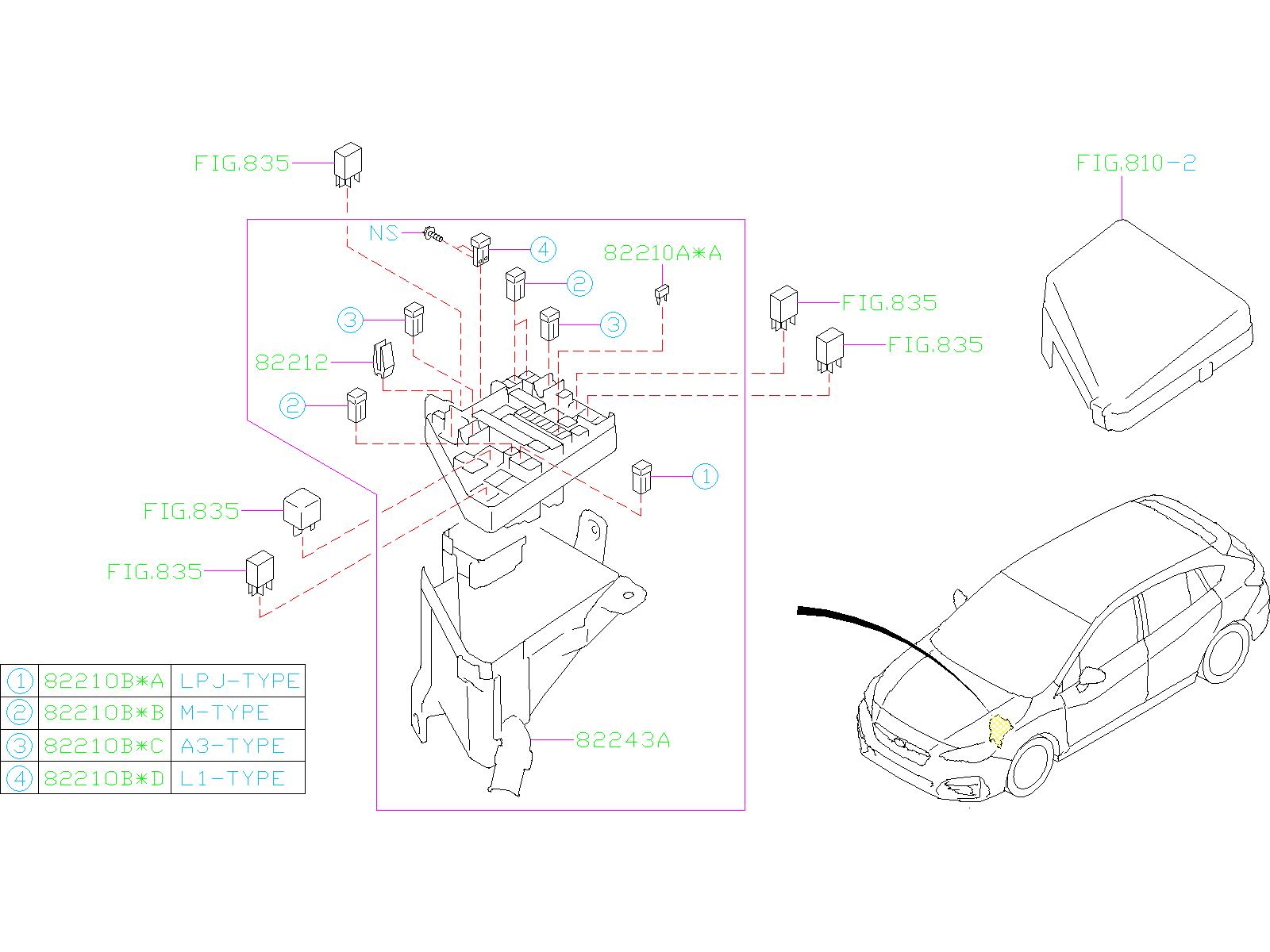 Subaru Impreza Fuse