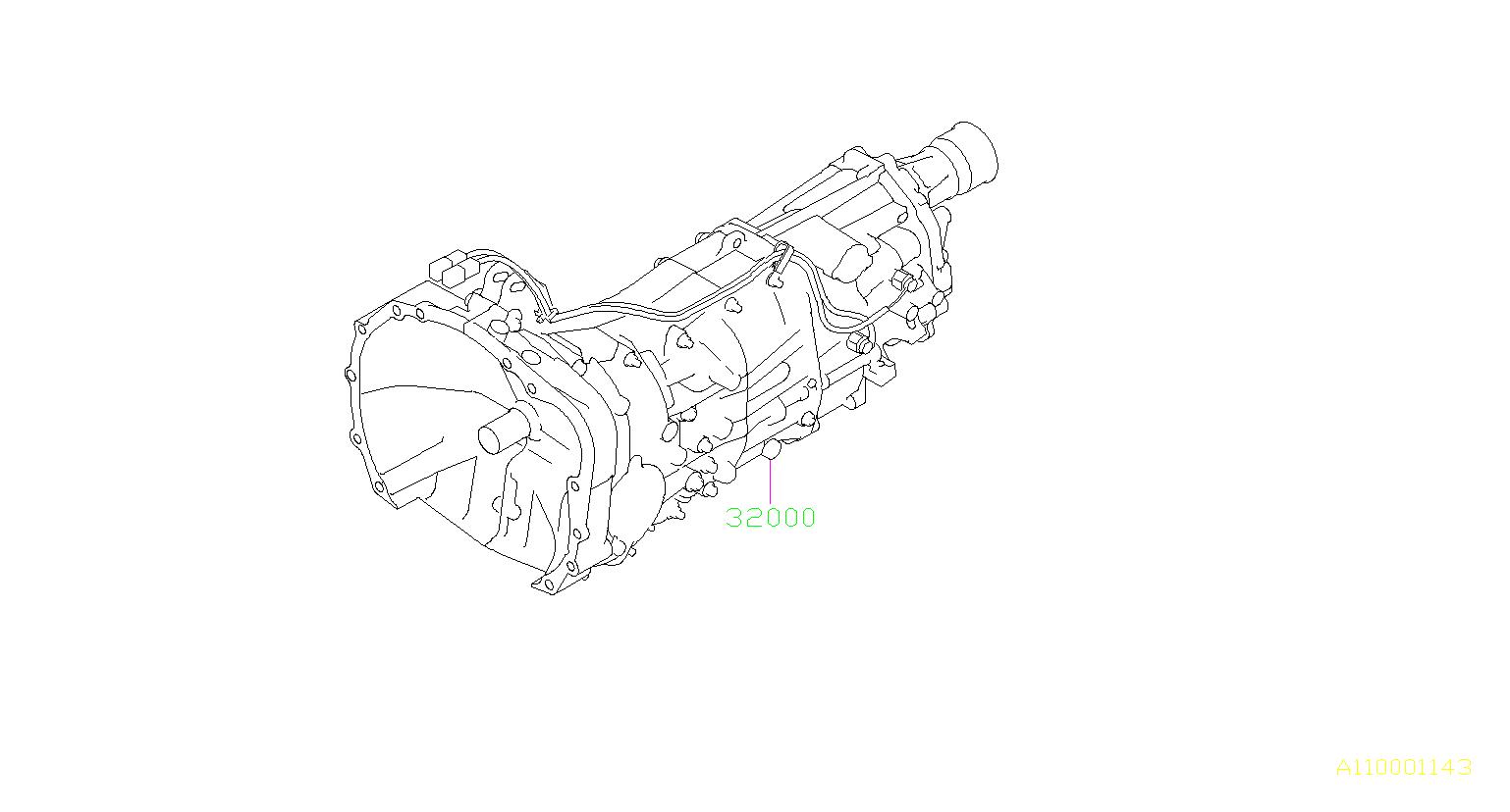 subaru crosstrek manual transmission assembly  assy