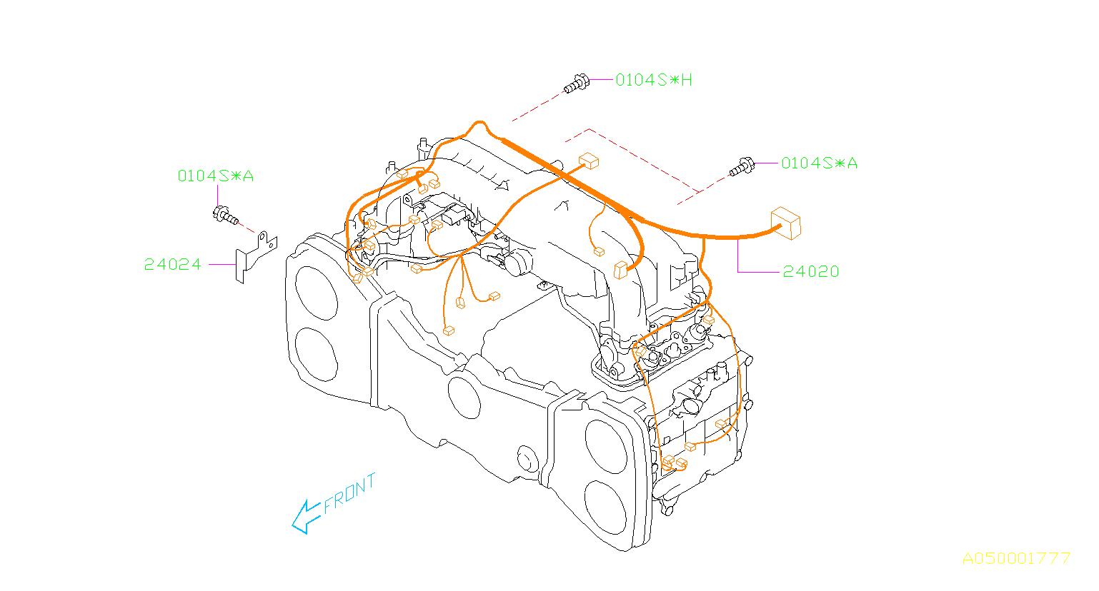 subaru forester harness engine wiring manifold intake. Black Bedroom Furniture Sets. Home Design Ideas