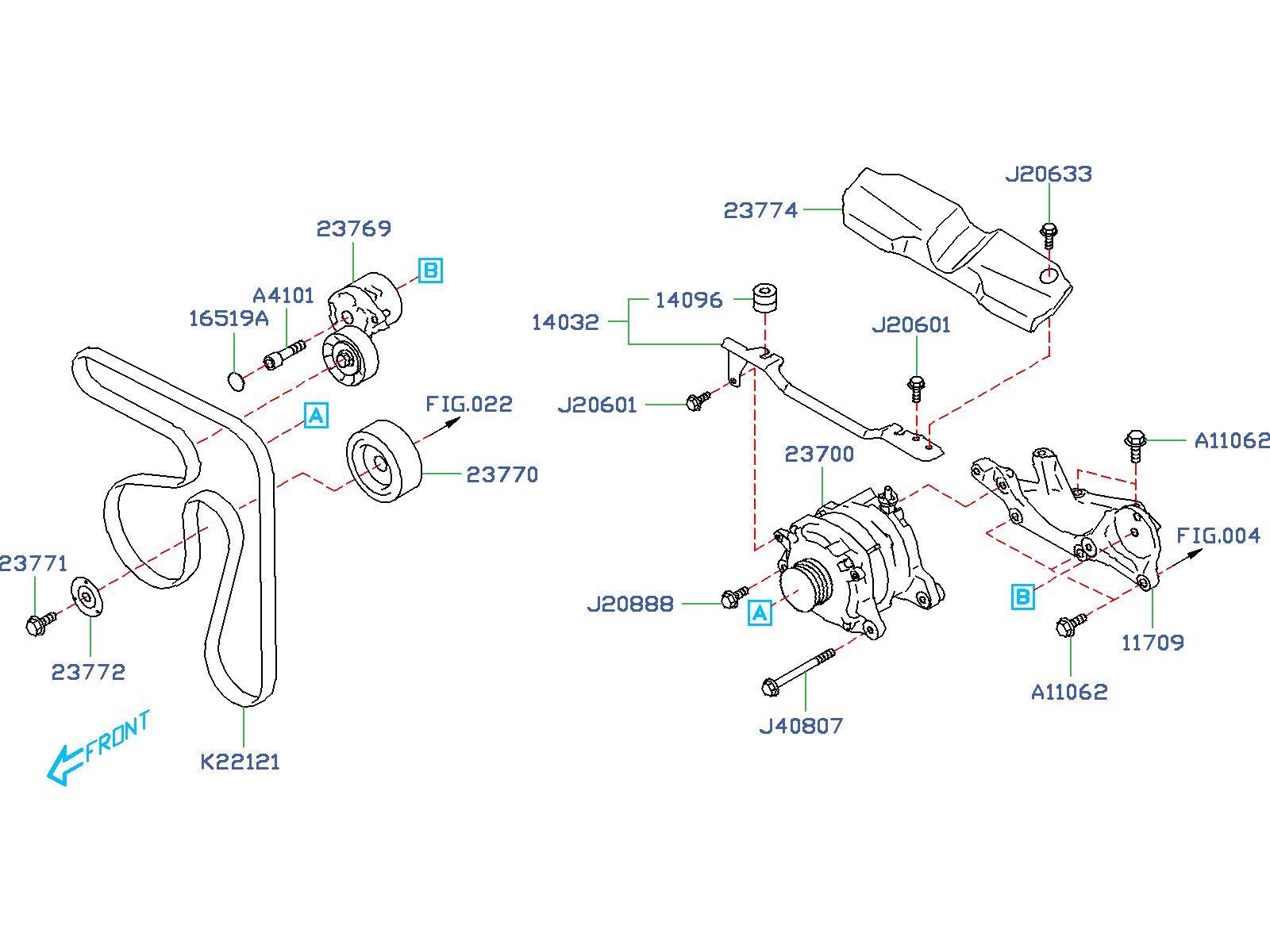 Subaru Forester Bolt 6x17 5x17 5  M6x17 5x17 5  Alternator