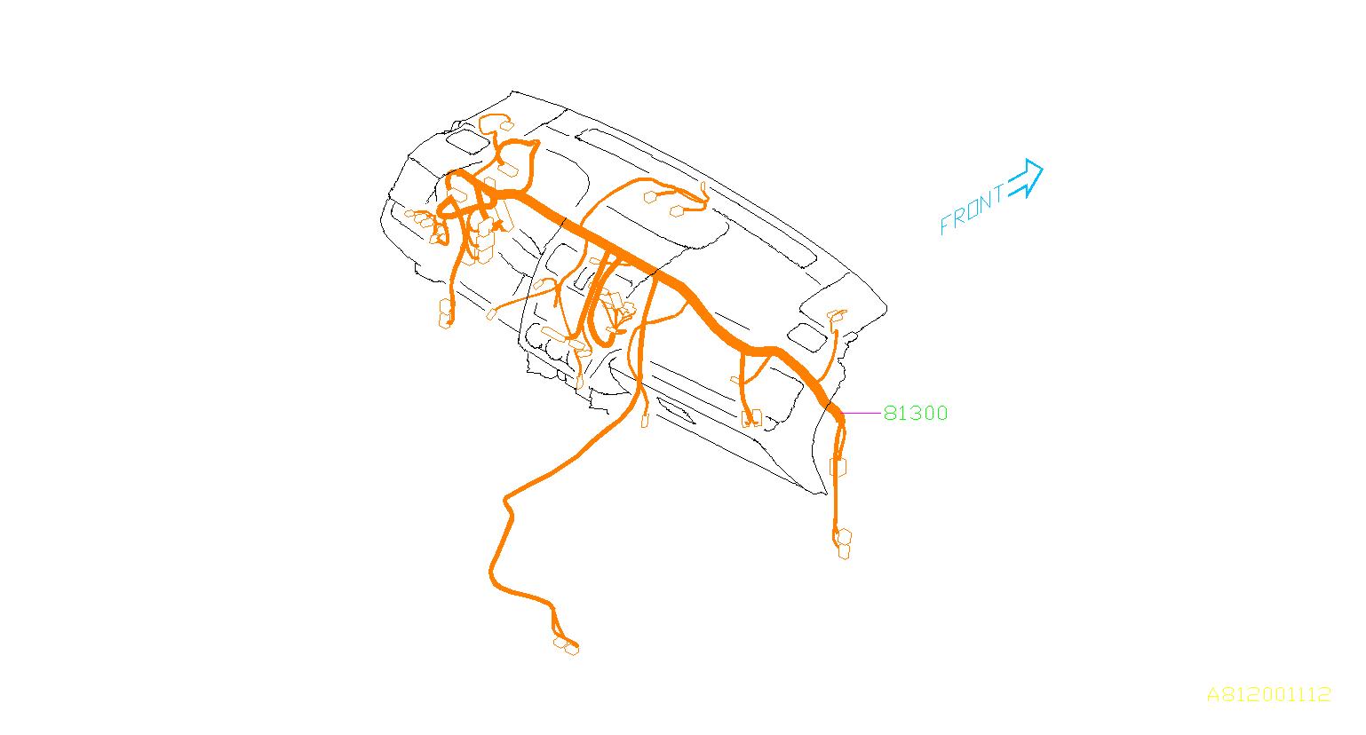 Subaru Forester Harness Instrument Panel  Wiring Harness