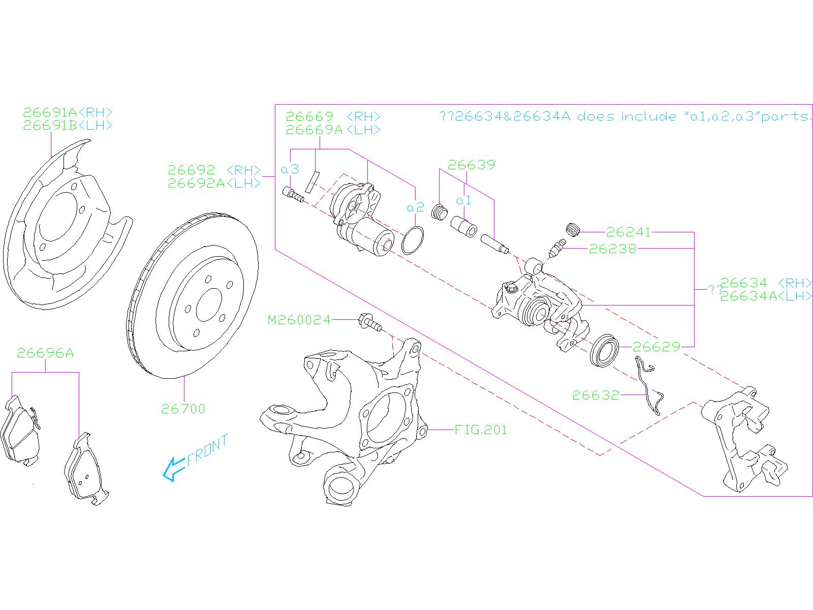 Subaru Forester Disc Brake Caliper Piston Boot  Rear