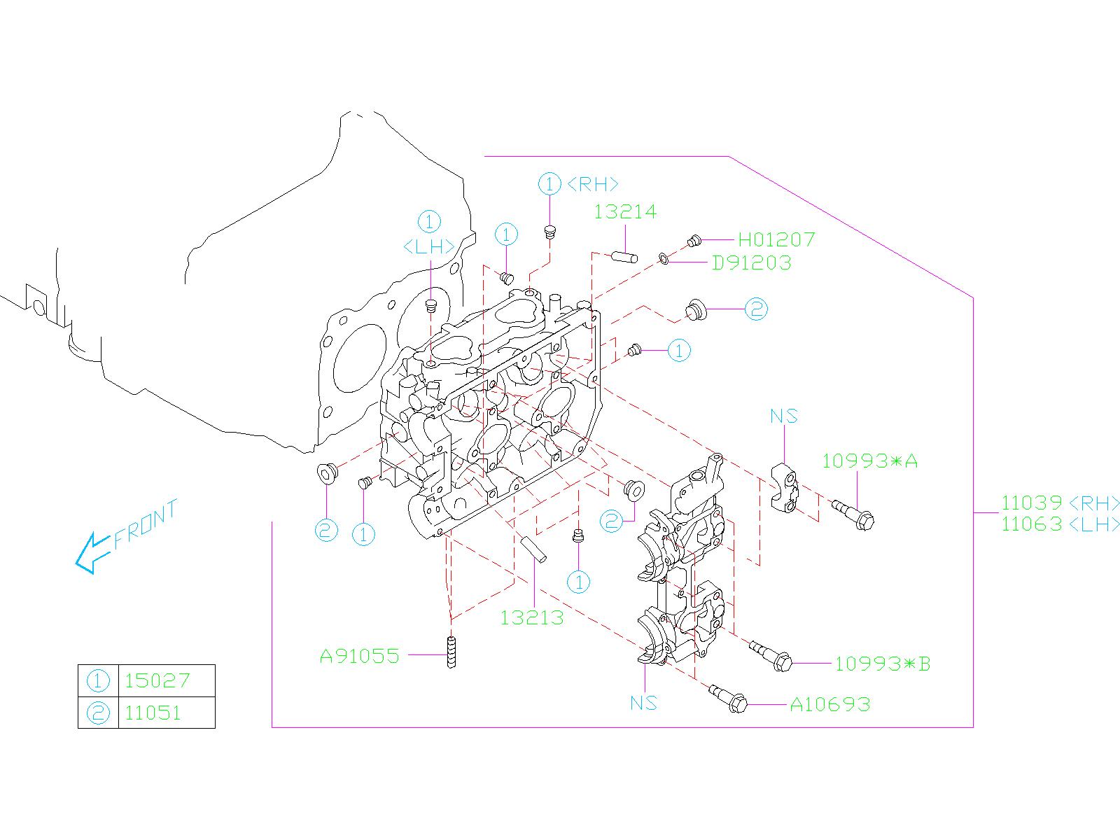 Subaru Wrx Engine Valve Guide  Guide Exhaust Valve