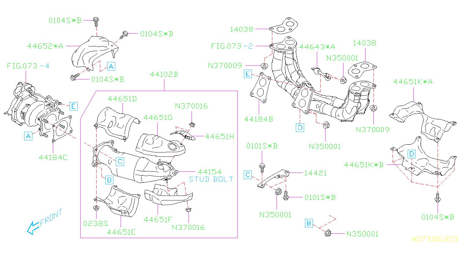 2015 Subaru Wrx Gasket