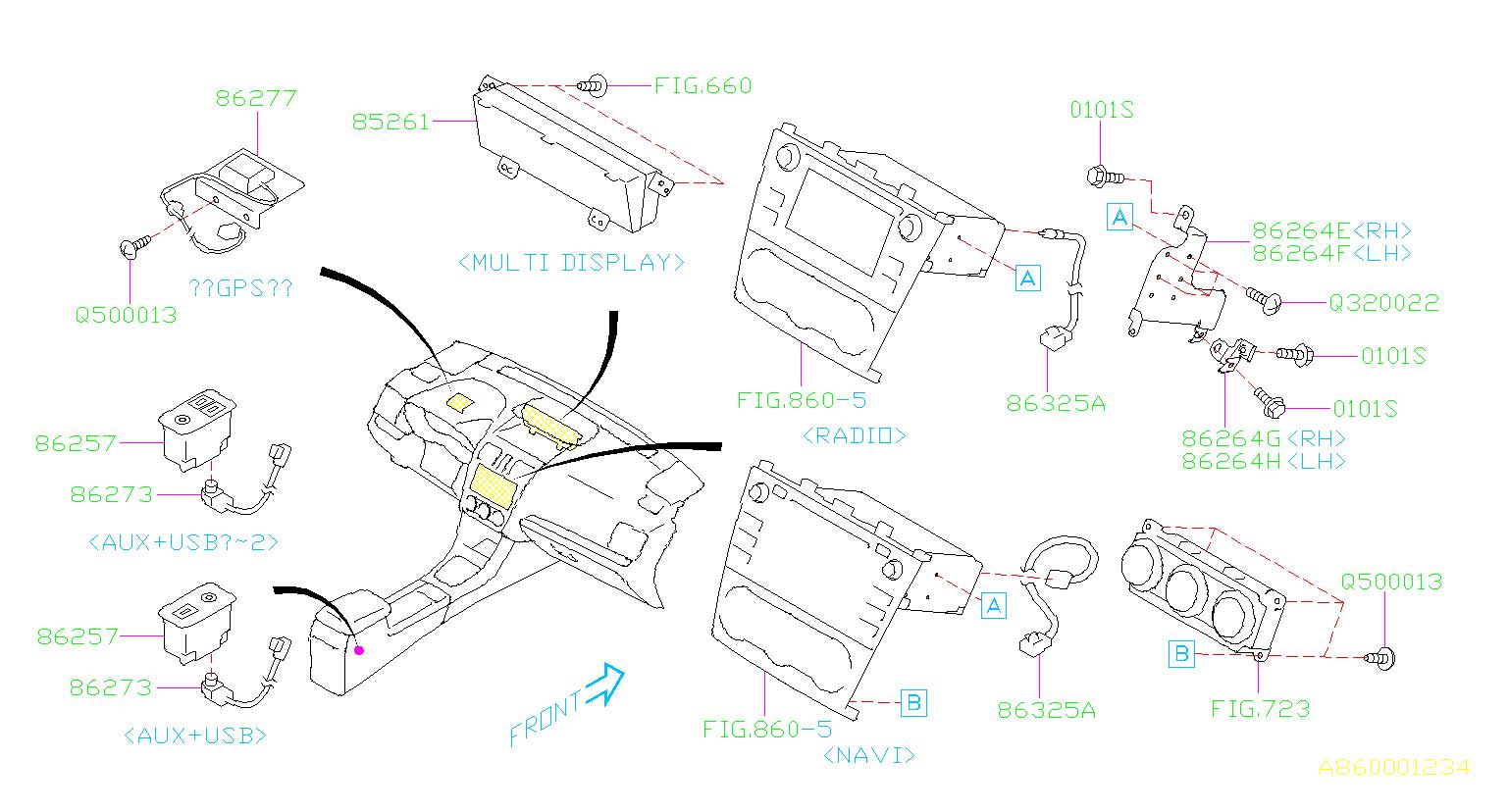 Subaru Wrx Telematics Unit  Audio  System  Radio