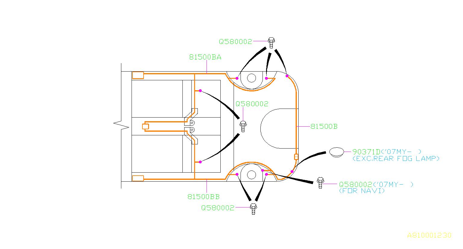 Subaru Tribeca Wiring Harness Us   Rear   Main  Electrical
