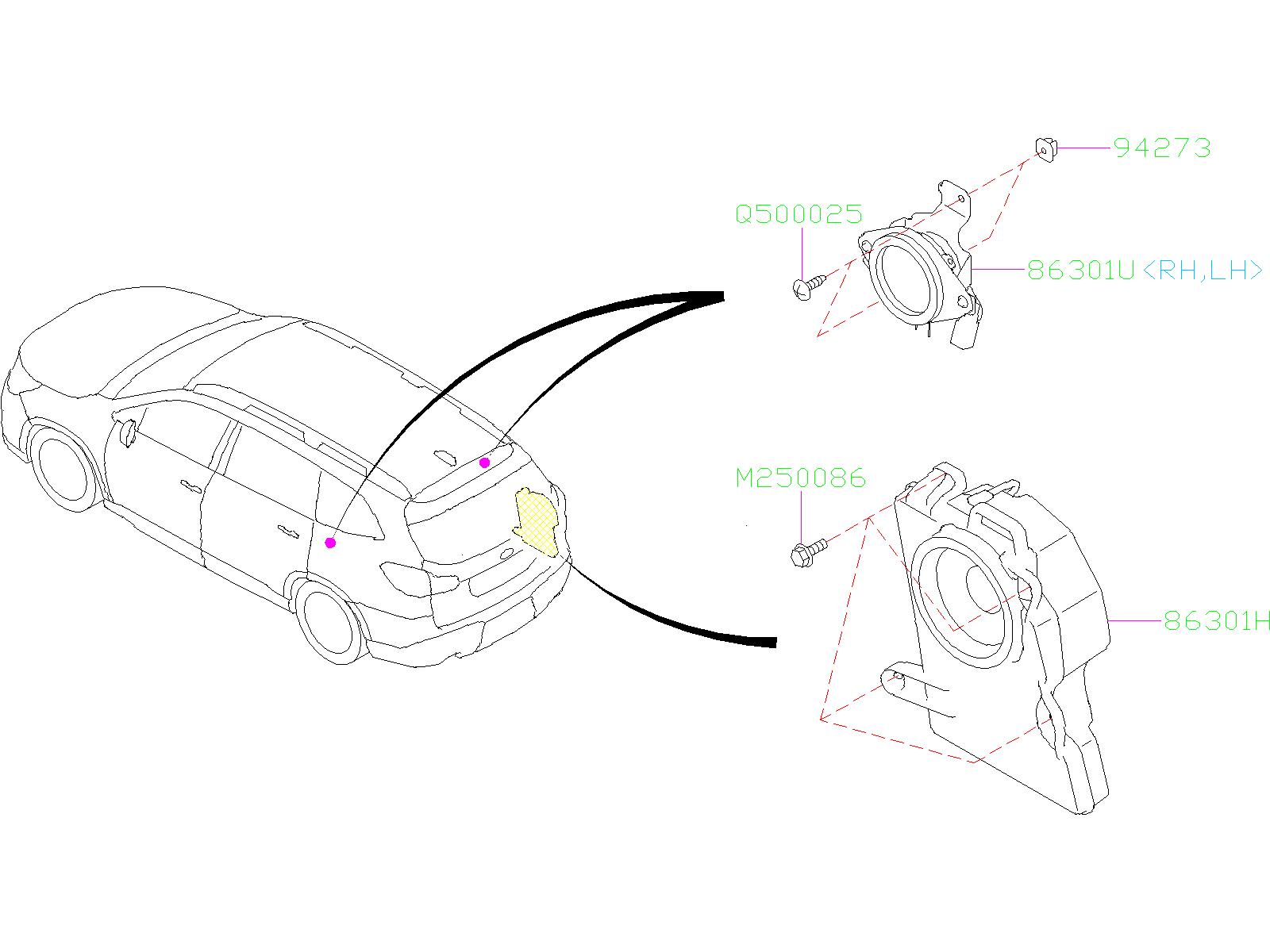 subaru ascent speaker assembly woofer harman electrical. Black Bedroom Furniture Sets. Home Design Ideas