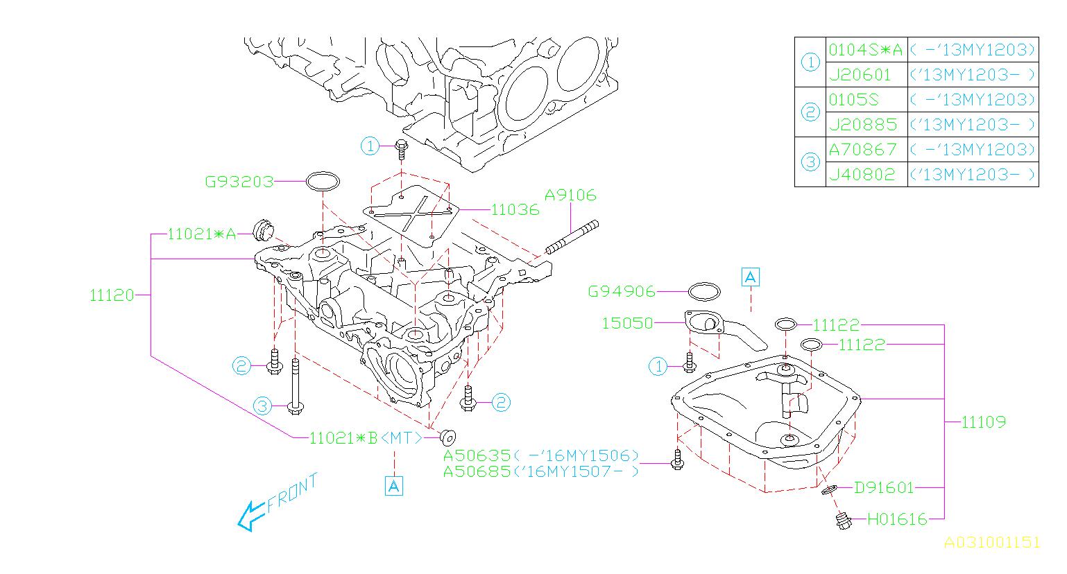 Subaru BRZ Engine Expansion Plug - 11021AA112 | Kirby ...