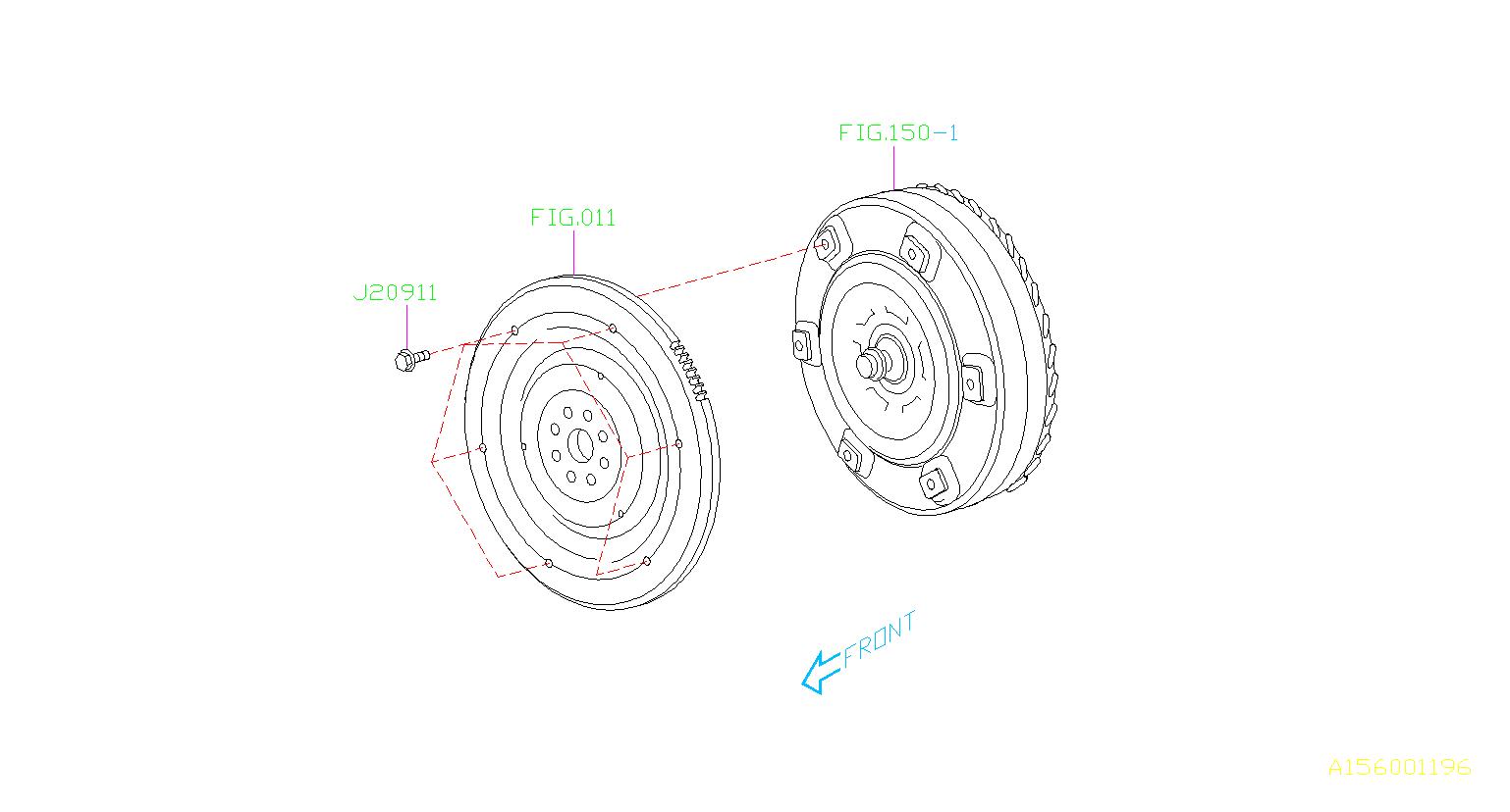 2015 subaru brz bolt  converter  torque  case