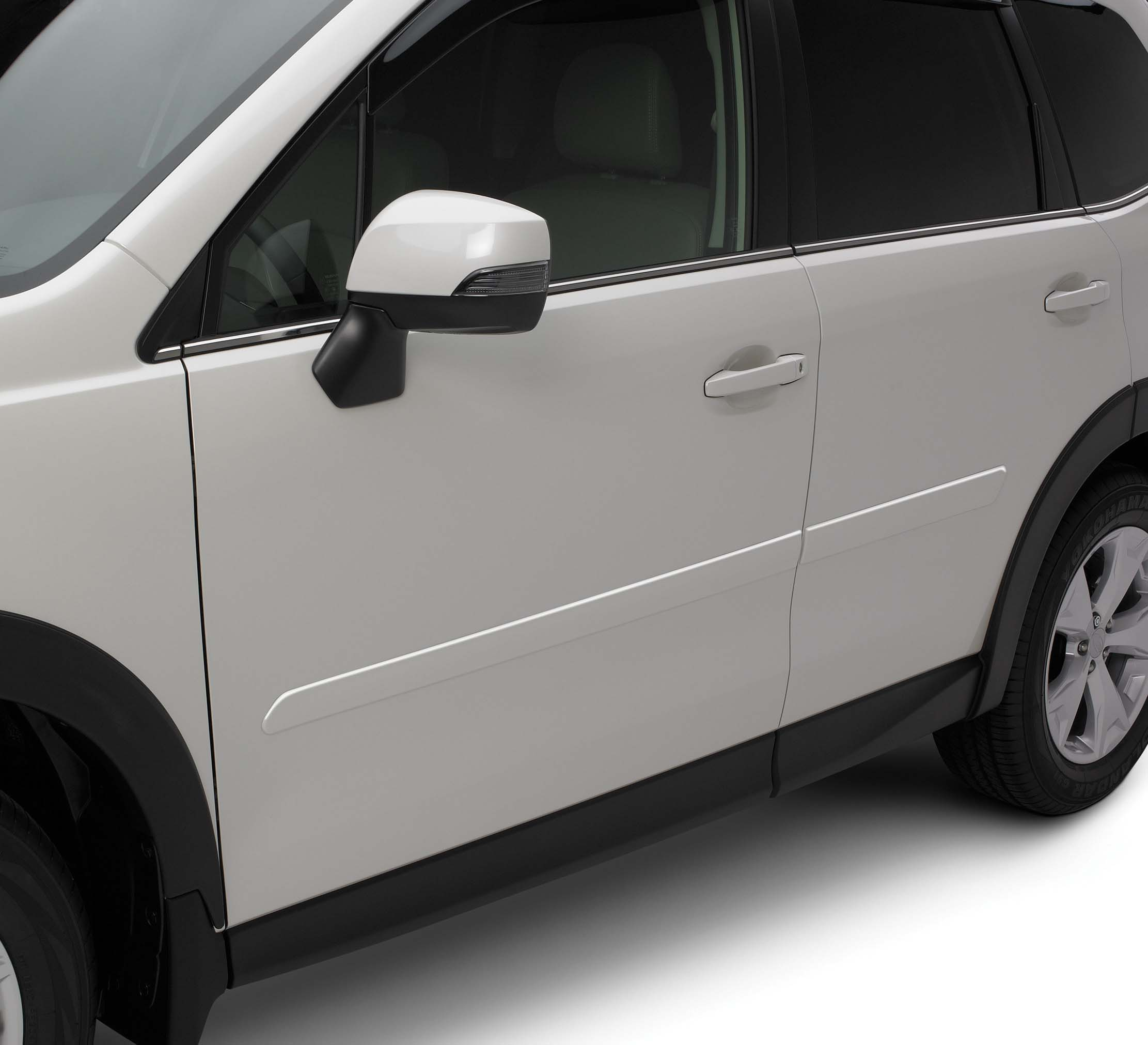 2014 Subaru Forester Body Side Molding Kit Satin White